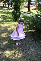 Нарядное  платье  для  девочки со шлейфом