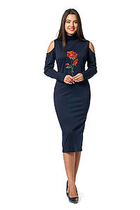 Платье Роза 0282_6 Тёмно-синее
