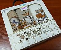 Набор кухонных полотенец Нилтекс, Кофе 3шт (Набор)