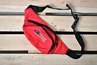 Красная поясная сумка/бананка ванс Vans мужская/женская
