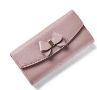 Бежево-розовый(пудра) женский стильный удобный кожаный кошелек клатч   Новинка