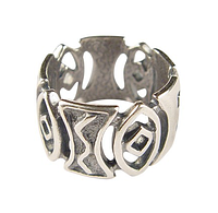 "Кольцо ""Луанда"" покрытое серебром (b4923090)"