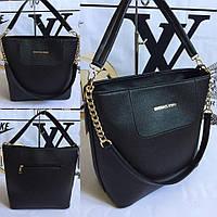 Черная каркасная сумка Майкл Корс