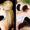 Валик для объема волос с гребешком бежевый, фото 2
