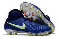 Футбольные бутсы Nike Magista Obra II FG Deep Royal Blue/Chrome/Total Crimson