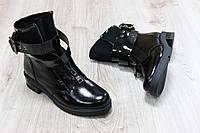 Женские кожаные ботинки лаковые, сезон на выбор: осень, зима