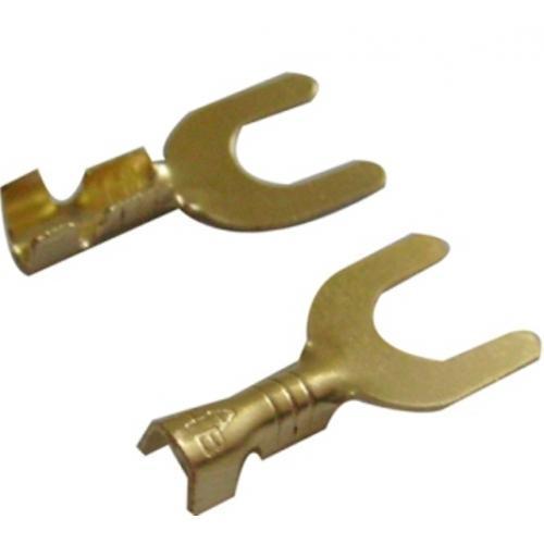 Клемма кабельная вилочная 4 - 6кв.мм. 8,4мм, латунь WTE (Турция)