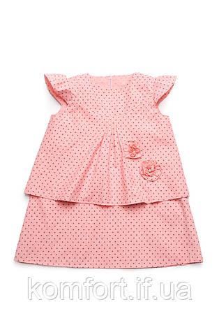 Платье детское (розовое, принт звезды), фото 2