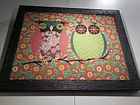 """Гобеленовая картина в раме Art de Lys """"Совы"""" 43х55см"""