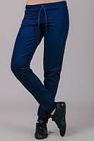 Синие спортивные штаны женские брюки трикотажные с карманами, на резинке (манжет)Украина
