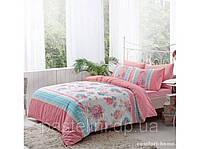 TAC Евро постельное бельё ранфорс Emma pink р-34650