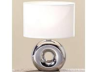 Лампа Нежность серебряная керамика h 26 см арт 8095400