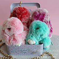 Меховой брелок кролик мягкая игрушка
