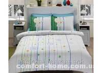 TAC Евро комплект постельного белья сатин Lonny blue р-404519
