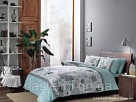 TAC Семейный комплект постельного белья Elora mint p-39098