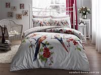 TAC Евро комплект постельного белья сатин Parrot red р-404530