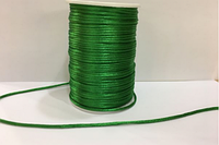 Атласный шнур (зеленый), (100м)