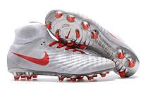 Футбольные бутсы Nike Magista Obra II FG Wolf Grey/Crimson/White, фото 1