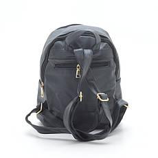 Небольшой женский рюкзак из кожзама на два отделения, фото 3