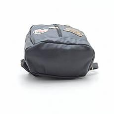 Небольшой женский рюкзак из кожзама на два отделения, фото 2
