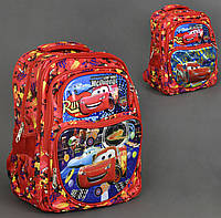 Рюкзак школьный, Тачки, The Cars, 2 вида, 5 отделений, 2 кармана, спинка ортопедическая