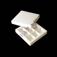 Упаковка для конфет (1шт) 145*145*29 белая