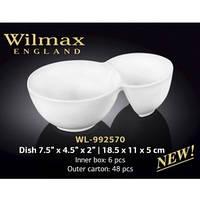 Wilmax Емкость д-закусок 18,5*11*5 см