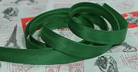 Косая бейка  зеленая,  1,5см,  100м