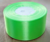 Лента атласная, 5см, 33м, светло-зеленая