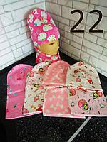 Шапочка для девочки в розовых тонах 22