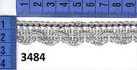 3484 тесьма люрикс 1,8см , 18м, серебро