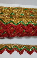 Тесьма декоративная люрикс карнавальные костюмы, 19м