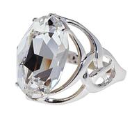 """Кольцо """"Солтан"""" с кристаллами Swarovski, покрытое родием (d983f000)"""