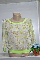 Летняя стильная шифоновая блуза, фото 1