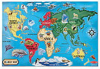 Картонный пазл Melissa&Doug Карта Мира 33 элемента