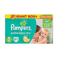 Подгузники Pampers Active Baby-Dry Junior 5 (87 шт)