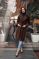 Женское пальто под пояс