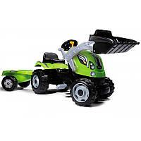 Трактор Педальный с Прицепом и Ковшом Farmer Max Smoby 710109