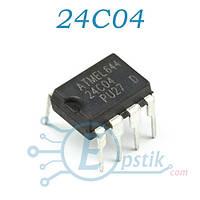 24C04, память энергонезависимая, EEPROM, 4 Кбит, DIP-8
