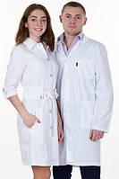 Мужской  медицинский  белый халат