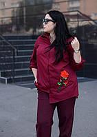 Женская деловая рубашка батал (3 цвета) p-t101576