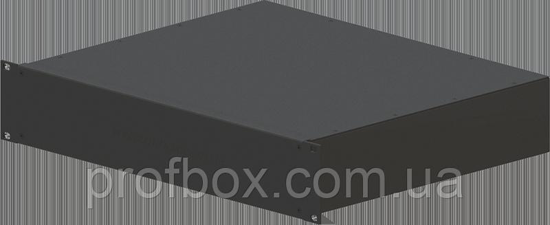 Корпус металевий Rack 2U, модель MB-2370SP (Ш483(432) Г372 В88) чорний, RAL9005(Black textured)
