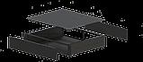 Корпус металевий Rack 2U, модель MB-2370SP (Ш483(432) Г372 В88) чорний, RAL9005(Black textured), фото 3