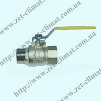 Кран IVR 151 ду 15 - ду 50 муфтовый латунный ВВ (газ)