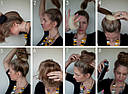 Бублик для волос S малый d  5 см коричневый, фото 4
