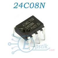 24C08N, память энергонезависимая, EEPROM, 8 Кбит, 1К x 8бит, DIP-8