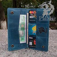 """Чоловічий портмоне гаманець клатч кожаный мужской """"Сlassic2"""" ручної роботи, натуральна шкіра, на кнопці, фото 1"""