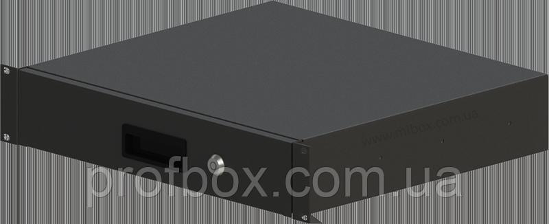 Корпус металевий Rack 2U, модель MB-2400RD (Ш483(432) Г400 В88 чорний, RAL9005(Black textured)