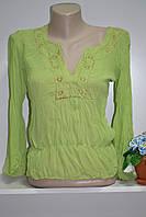 Шифоноваяя стильная блуза с длинным рукавом, фото 1
