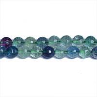 Флюорит, Натуральный камень, На нитях, бусины 8 мм, Граненый Шар, Отверстие 1 мм, количество: 47-48 шт/нить